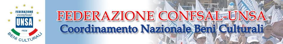 Federazione CONF.SAL – UNSA. Coordinamento Nazionale Beni Culturali