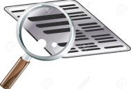 4574327-Un-esempio-di-guardare-un-documento-con-una-lente-di-ingrandimento-Icona-potrebbe-simboleggiare-la-r-Archivio-Fotografico