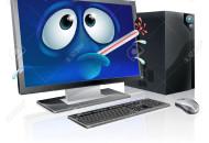 30028392-Rotto-Cartoon-computer-desktop-cartone-animato-di-un-computer-poco-con-un-termometro-scoppia-in-bocc-Archivio-Fotografico